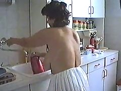 Woman with BIG Ass and Boobs Cleaning the House (Mature) _: big boobs grannies matures