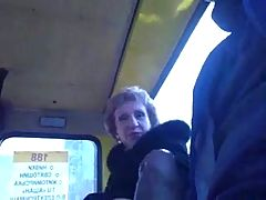 Guy masturbates on public transportation _: public nudity