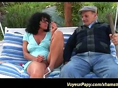 Voyeur papy loves extreme sex _: anal french threesomes