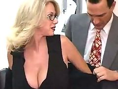 Office milf in glasses makes great sex partner _: big boobs matures