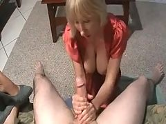 Some help with the jerking off by two mommies _: big boobs blowjobs handjobs milfs old+young