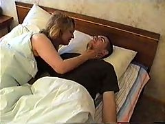 Boyfriend Comes To Moms Bed With Hard Cock