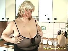 My mom shows her extreme oiled boobs _: amateur bbw big boobs